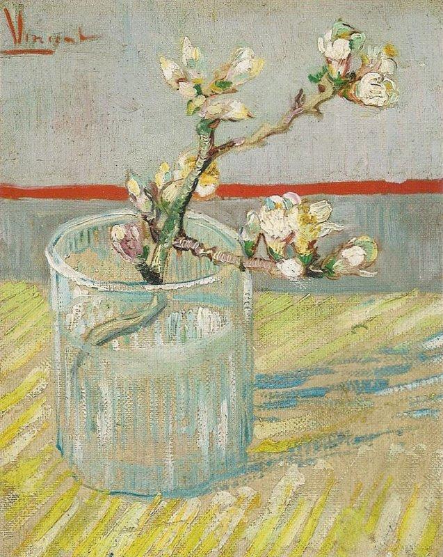 Vincent van Gogh, Bloeiend amandeltakje in een glas, 1888