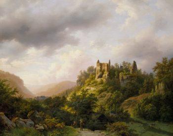 B.C. Koekkoek, Burg Fels in Luxemburg