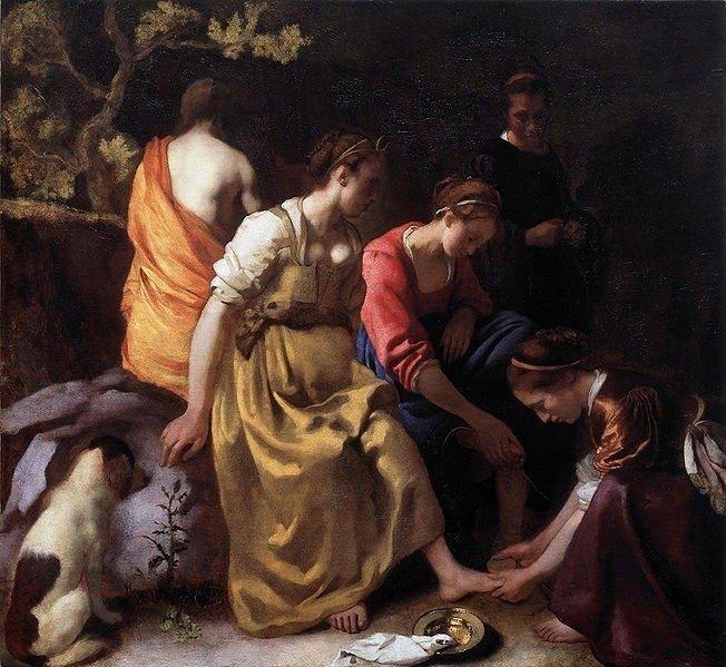 Johannes Vermeer, Diana en haar nimfen, ca. 1653-1654