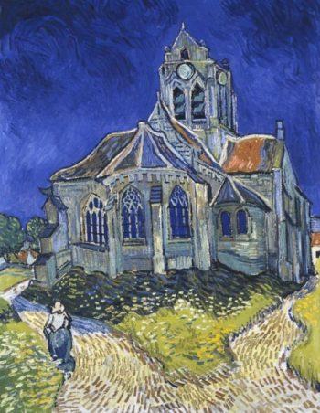 Vincent van Gogh, De kerk van Auvers, 1890