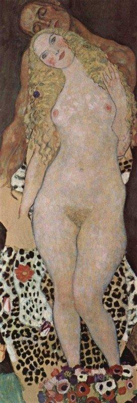 Gustav Klimt, Adam en Eva, 1917