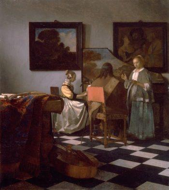 Johannes Vermeer, Het concert, ca. 1663-1666