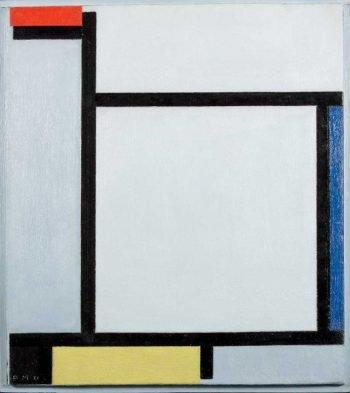 Piet Mondriaan, Compositie met rood, blauw, zwart, geel en grijs