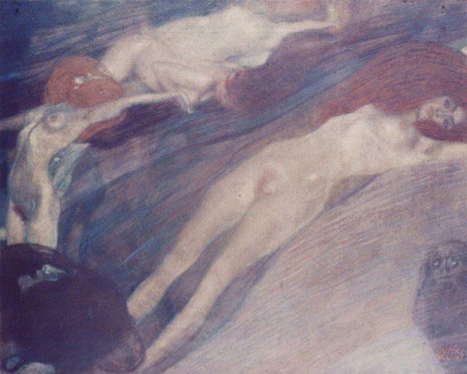 Gustav Klimt, Bewegend water, 1898