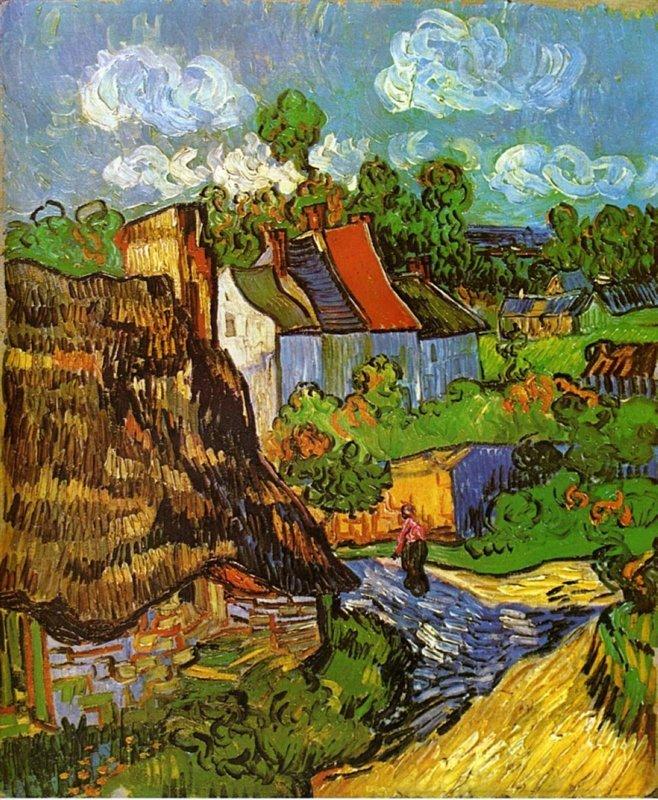 Vincent van Gogh, Huisjes in Auvers, 1890