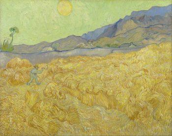 Vincent Van Gogh, Korenveld met maaier, 1889