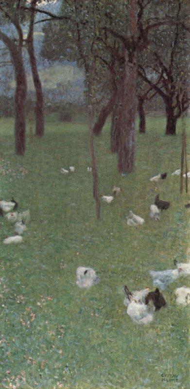 Gustav Klimt, Tuin met kippen in St Agatha