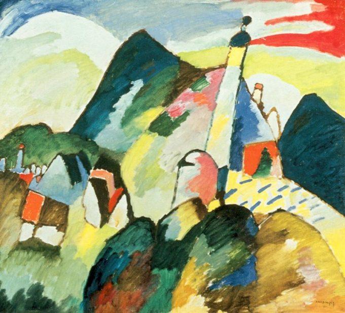 Wassily Kandinsky, Zicht op Murnau met kerk, 1910