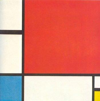 Piet Mondriaan, Compositie met rood, blauw en geel