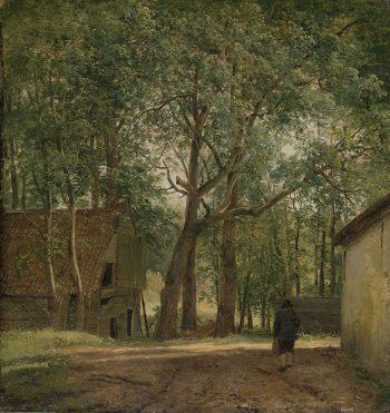 Andreas Schelfhout, Boerenerf, ca. 1820 – ca. 1830