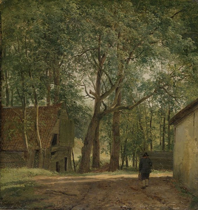 Andreas Schelfhout, Boerenerf, ca. 1820 - ca. 1830