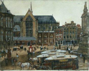 George Hendrik Breitner, Gezicht op de Dam in Amsterdam, 1896-1898