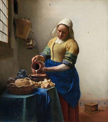 Johannes Vermeer, Het melkmeisje, 1660