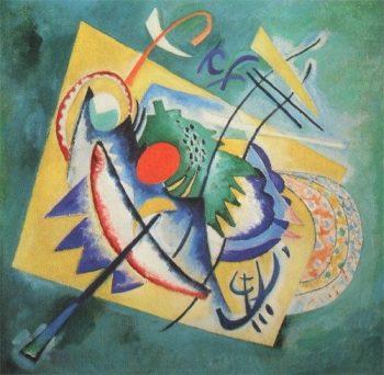 Wassily Kandinsky, rood ovaal, 1920
