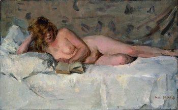 Isaac Lazarus Israëls, Liggend naakt (Sjaantje van Ingen), Circa 1894-1900