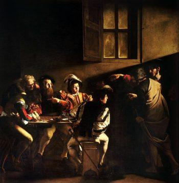 Michelangelo Merisi da Caravaggio, De roeping van Mattheus, ca. 1599-1600