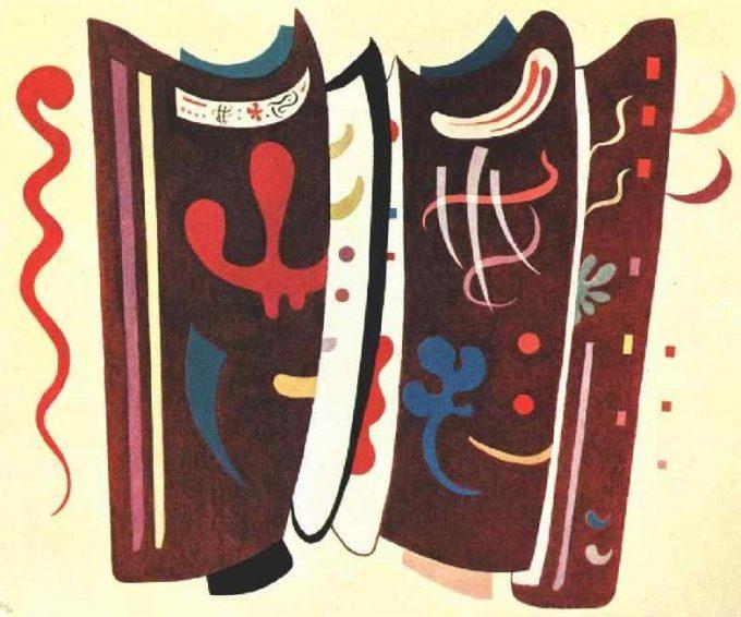 Wassily Kandinsky, Aangevuld bruin (Ergänztes Braun), 1935