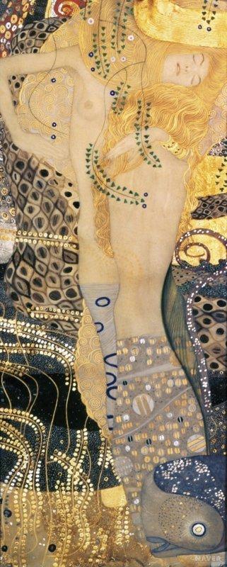 Gustav Klimt, Waterslangen 1, 1907