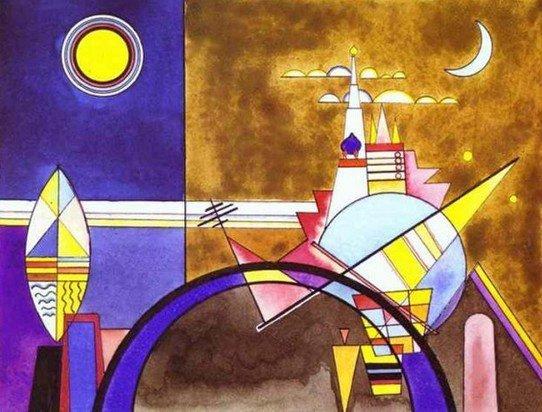 Wassily Kandinsky, De grote poort van Kiev, 1928