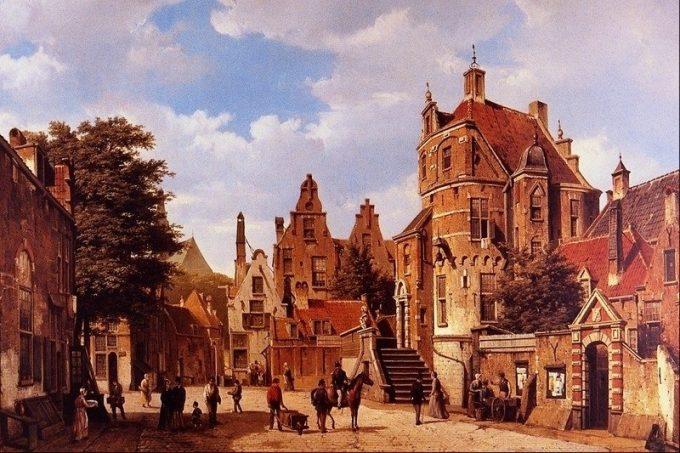 B.C. Koekkoek, Oud Amsterdam