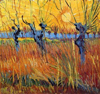 Vincent van Gogh, Knotwilgen bij zonsondergang, 1888