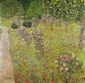 Gustav Klimt, Boomgaard met rozen, 1905