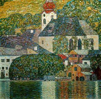 Gustav Klimt, Kerk in Unterach aan het Altermeer, 1916