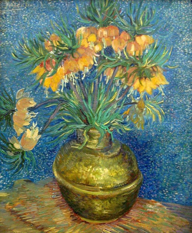Vincent van Gogh, Fritillaria's in een koperen vaas, 1887