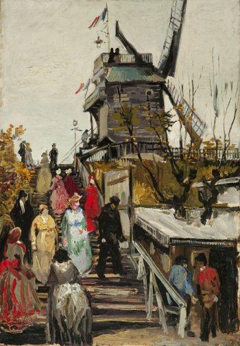 Vincent van Gogh, Le moulin de Blute-Fin, 1886