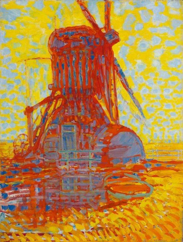 Piet Mondriaan, Molen in zonlicht, 1908