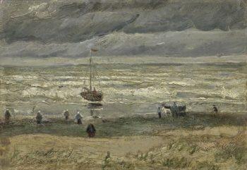 Vincent van Gogh, Zeegezicht bij Scheveningen, 1882