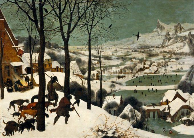 Pieter Bruegel de Oudere, Jagers in de sneeuw, 1565
