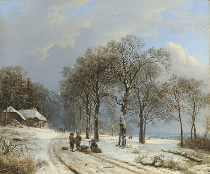 B.C. Koekkoek, Winterlandschap 2