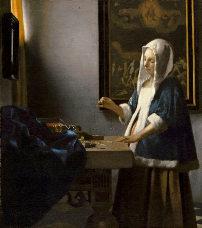 Johannes Vermeer, Dame met een weegschaal, ca. 1662-1665