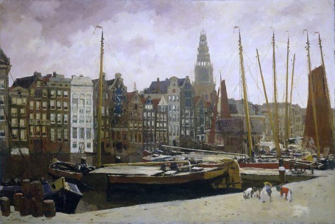 George Hendrik Breitner, Het Damrak in Amsterdam, 1903