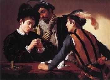Michelangelo Merisi da Caravaggio, De valsspelers, 1594