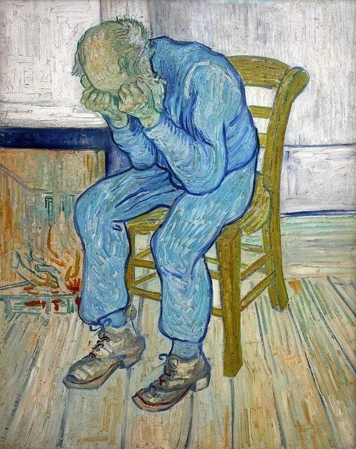 "Vincent van Gogh, Treurende oude man (""At eternity's gate""), 1890"