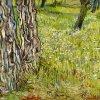 Vincent van Gogh, Boomstammen in het gras, 1890