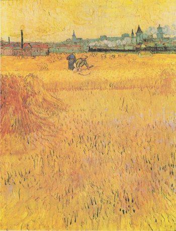 Vincent van Gogh, Arles: uitzicht vanaf de korenvelden, 1889