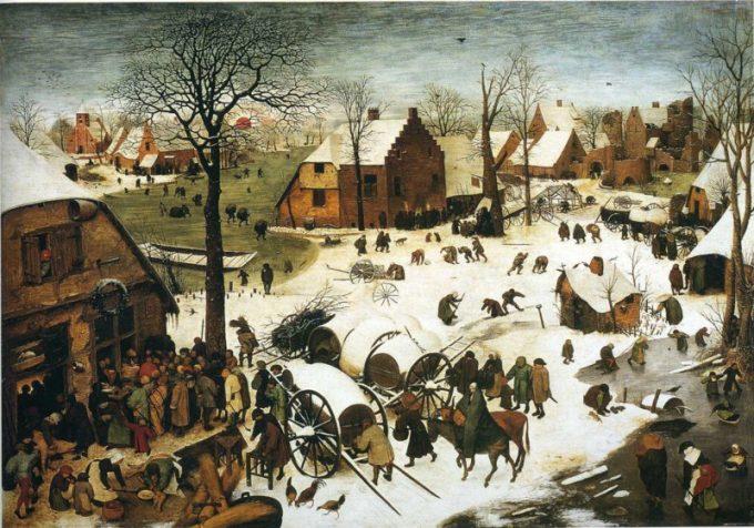 Pieter Bruegel de Oude, De volkstelling in Bethlehem, 1566
