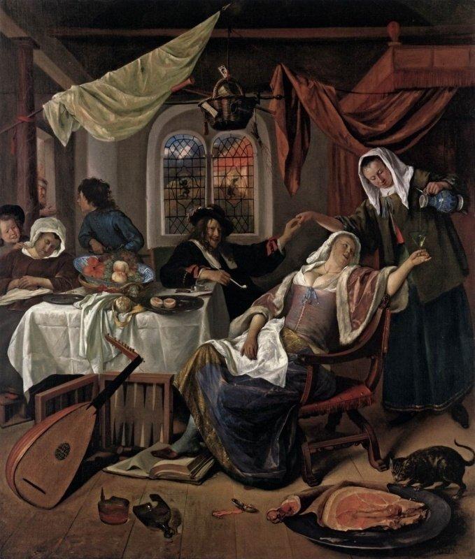 Jan Havickszoon Steen, Het losbandig huishouden, ca 1664