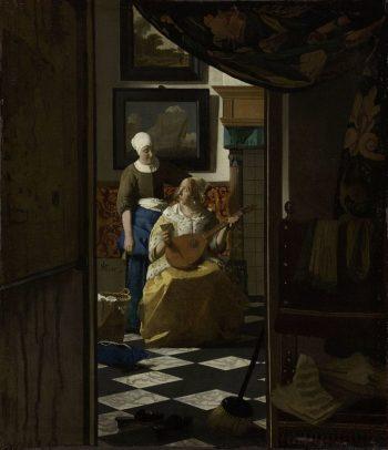 Johannes Vermeer, De liefdesbrief, ca. 1669 – ca. 1670
