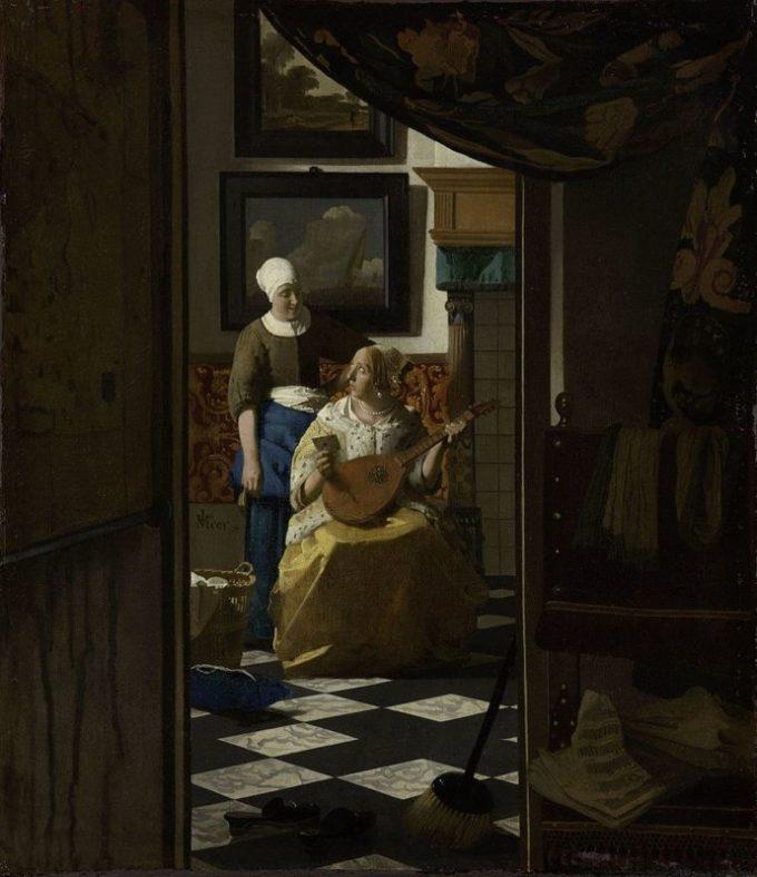 Johannes Vermeer, De liefdesbrief, ca. 1669 - ca. 1670