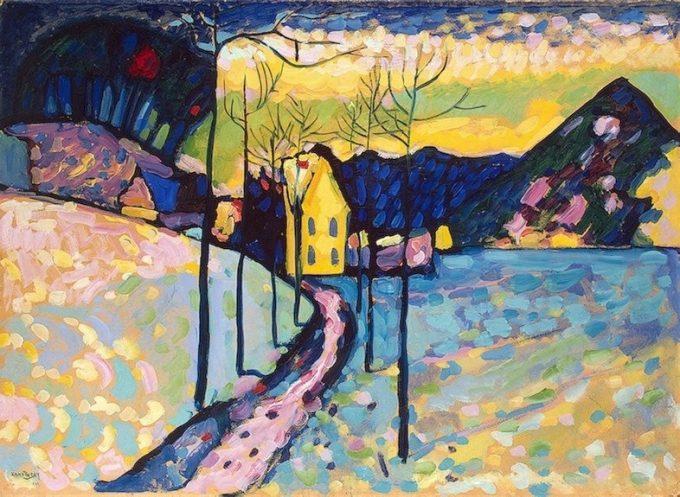 Wassily Kandinsky, Winterlandschap met kerk, ca 1910-1911