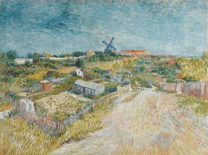 Vincent van Gogh, Volkstuintjes op Montmartre, 1886-1887