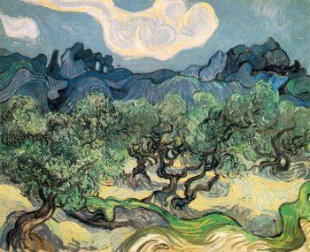 Vincent van Gogh, Olijfbomen in een berglandschap, 1889