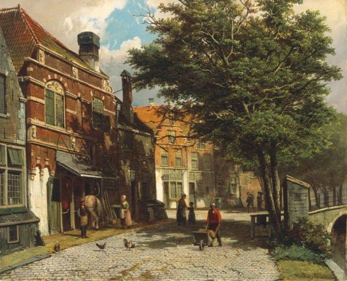 Willem Koekkoek, Nederlandse stad in de zomer