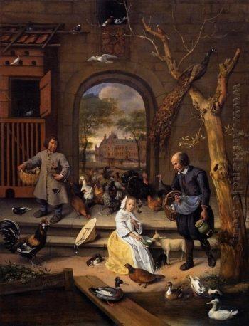 Jan Havickszoon Steen, Portret van Jacoba Maria van Wassenaer (1654-1683), bekend als 'De hoenderhof', 1660