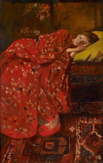 George Hendrik Breitner, Meisje in rode kimono (Geesje Kwak), 1895−1896