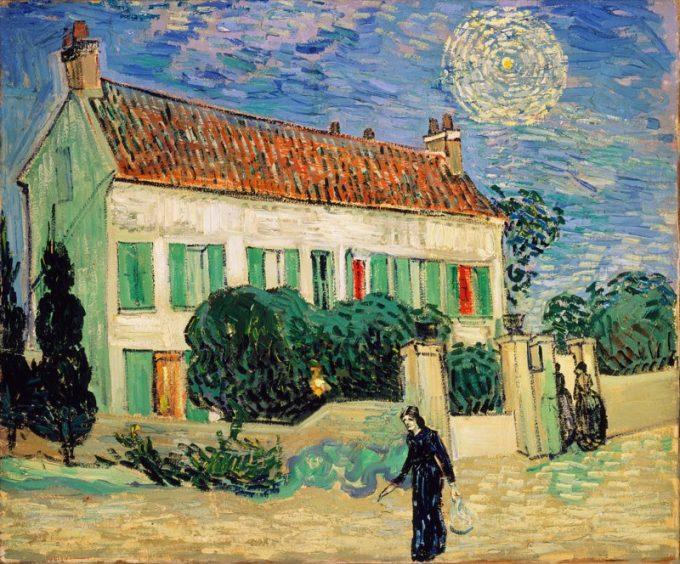 Vincent van Gogh, Het witte huis bij nacht, 1890